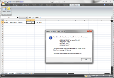 Stock Quotes Msn | Update Installer For Msn Like Stock Quotes Add In For Excel 2007