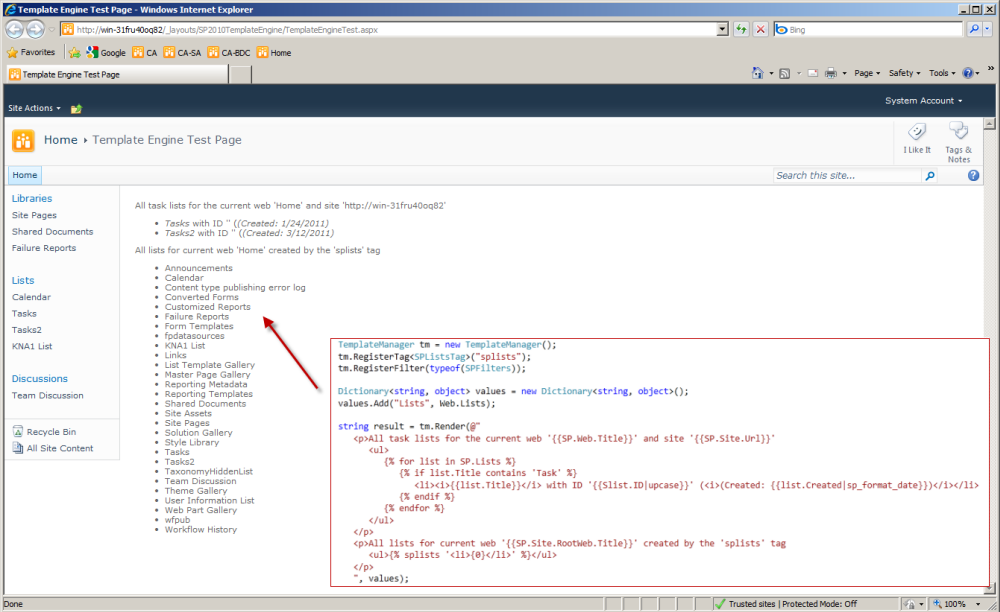 How To Implement A Generic Template Engine For SharePoint 2010 Using ...