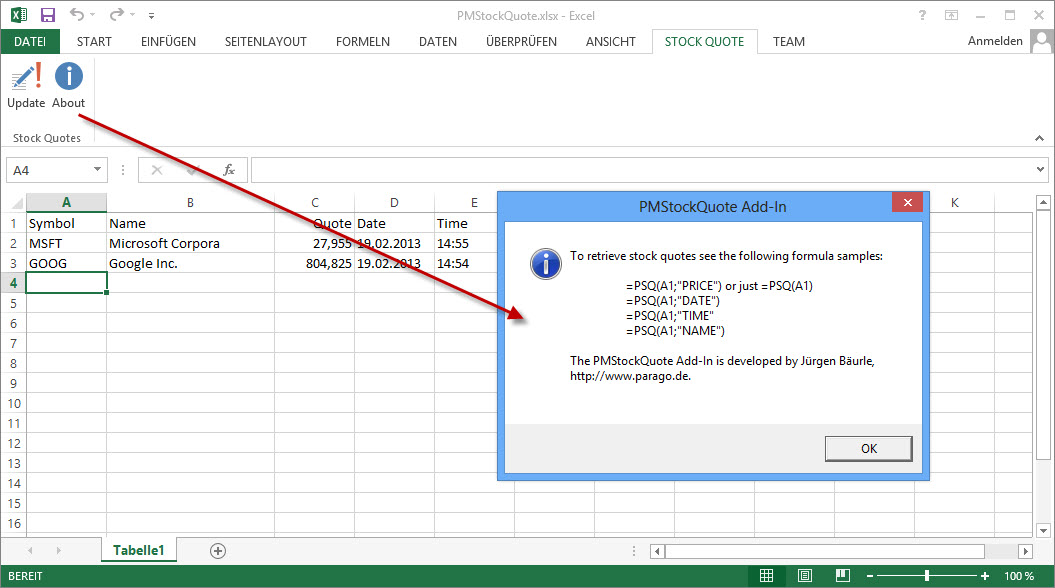 Google Finance Stock Quotes In Excel: Download Free Stock Quotes In Excel (Marketxls)